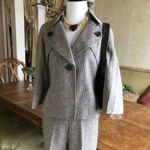Nine West brown tweed pant suit